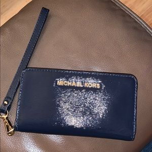 Michael Kors bi-fold embossed leather wallet